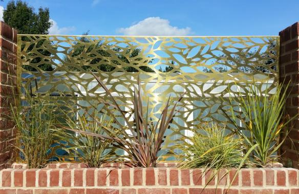Mill finish - water jet cut brass screen